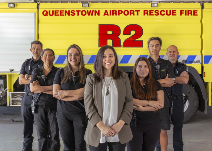 Team members from across Queenstown Airport Corporation and House of Hygiene