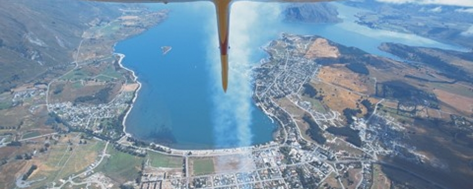 view of Wanaka 2014 Airshow banner sml
